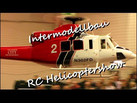 Der Los Angeles Fire Department Bell 412 Vario Modellturbinenhubschrauber