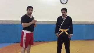 آموزش دفاع شخصی دستگیری مهاجم با استاد سعید غفاری