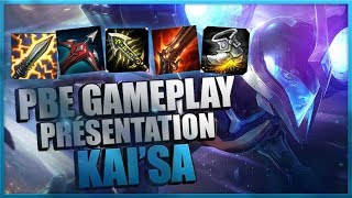 KAI'SA GAMEPLAY - BUILD ASPD CRIT - NOUVEAU CHAMPION LOL