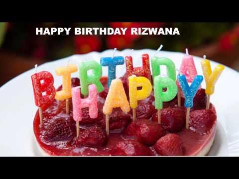 Rizwana  Cakes Pasteles - Happy Birthday