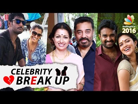 The Celebs who BROKE UP in 2016 | Shocking divorces of Tamil Actor and Actresses