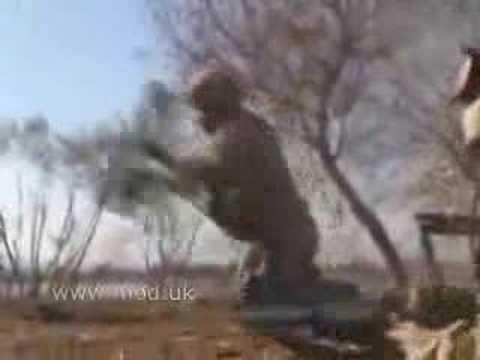 Royal Marine Commandos engaging the taliban