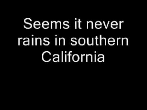 Albert Hammond - It never rains in southern California + text