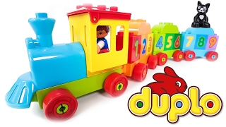 TRAINS FOR CHILDREN VIDEO: LEGO Duplo Train 10847 Learn to Count, Numbers and Colors for Kids