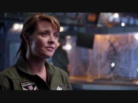 Jack O Neill and Samantha Carter on Stargate Universe first episode.