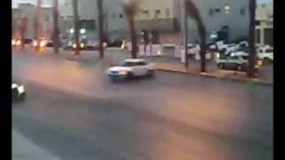 حادث تفحيط عند نادي النصر