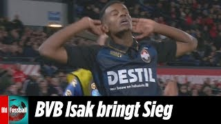BVB-Leihgabe Isak mit Mega-Siegtor | Feyenoord Rotterdam - Willem II 2:3 | Highlights | Eredivisie