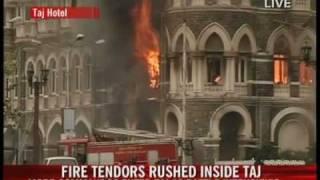 Fire breaks out at Taj hotel as commandos kill last militants.