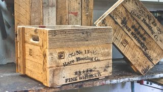 Rustic Prohibition Crates - Making Props For a Party