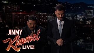 Jimmy Kimmel and Guillermo Pray for Arnold Schwarzenegger