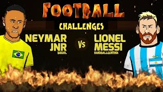 Neymar vs Messi: FOOTBALL CHALLENGES! (Parody Brazil vs Argentina 3-0 2016 World Cup 2018)