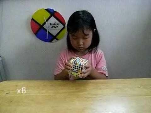 6year old girl solved V-CUBE7