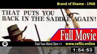 Watch: Brand of Shame (1968) Full Movie Online