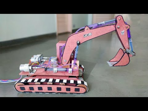 Download How to Make a Remote Control Hydraulic Excavator / JCB at Home