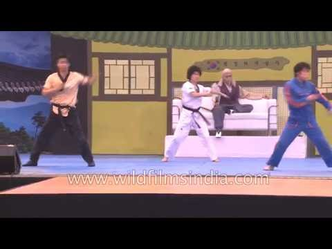 JUMP in India : Korean martial arts and dance performers