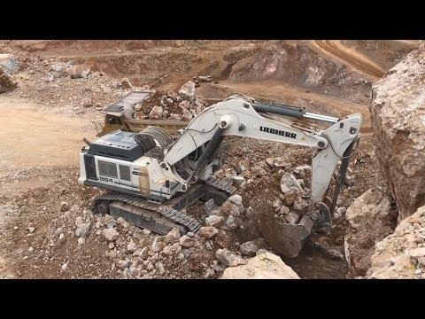 Liebherr 984 Excavator Loading Cat Dumpers Sotiriadis Brothers