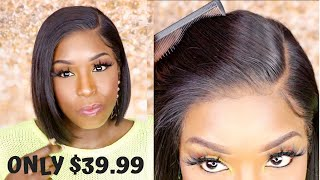 ONLY $39.99!! 13x6 Lace Front Bob Wig! But is it Worth it? Honest Review ft BestLaceWigs