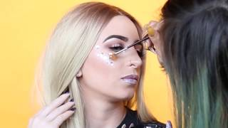 Arzaylea Does 90s Rave Beauty Look for Coachella | Galore TV