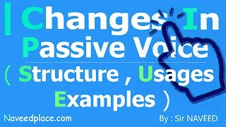 Changes In Passive Voice With Examples In English  Grammar / Language