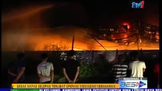 ANGGOTA BOMBA SESAK NAFAS SELEPAS PADAM KEBAKARAN [24 JUN 2015]