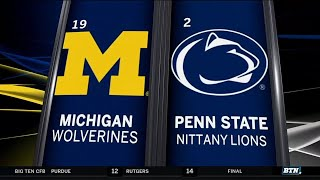 Michigan at Penn State - Football Highlights