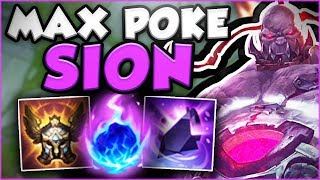 THIS NEW MAX POKE SION BUILD IS ACTUALLY GENIUS! NEW SION SEASON 8 TOP GAMEPLAY! - League of Legends