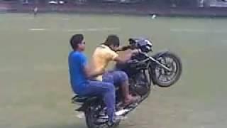 Jagiroad College Field PAPU Bike Stun