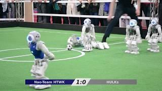 Nao-Team HTWK vs. HULKs - RoboCup Iran Open 2018