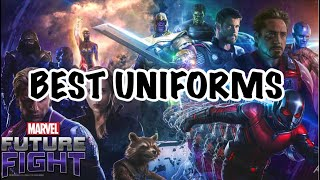 AVENGERS ENDGAME UNIFORMS !! WHAT NOT TO BUY 🧐 | Marvel Future Fight