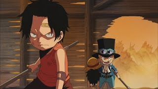 Ace & Sabo Save Luffy English Dubbed