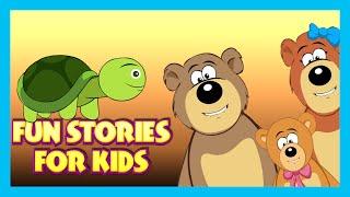 Fun Stories For Kids | Goldilocks & The Three Bears | Little Red Riding Hood | Tortoise & Rabbit