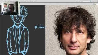DSC Livedraw 142! Drawing Neil Gaiman (pt 1)