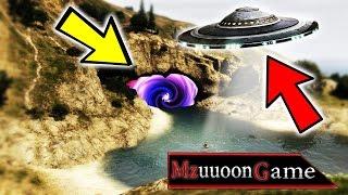 ماذا يحدث لو فعلنا سجن للمركبه الفضائية  في جي تي أي 5 | GTA V SUNKEN UFO