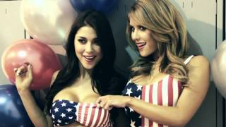 UFC Octagon girls Brittney Palmer and Arianny Celeste in sexy behind the scenes video   FHM UK)