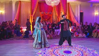 Bride and Groom Surprise Mehndi Dance Performance 2017