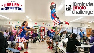 Globetrotters Inspire Kids with 10 Minute Photo Challenge and Awesome Trick Basketball Shots