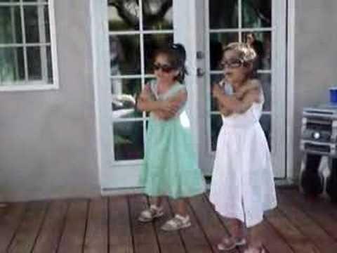 Two Cute Little Girls - Dancing to an Elvis Favorite