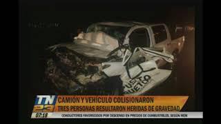 Un camión y un vehículo impactaron en la ruta al Pacífico