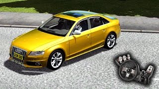 City Car Driving 1.4.0 - Audi S4 2010 - Rolê bem louco! - Acelerando tudo! - Com Logitech G27