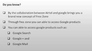 Airtel Google Free Zone