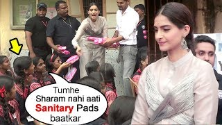 Sonam Kapoor's BEST Reply To School Girls Embaressing Question On Pads At Padman Promotions