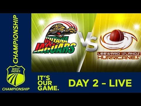 LIVE West Indies Championship Day 2 Guyana v Leewards Friday 18th January 2019