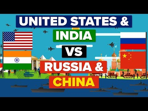 USA & India VS China & Russia Who Would Win Army Military Comparison