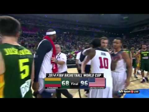 watch Fight after the game | USA vs Lithuania | September 11, 2014 | Basketball | FIBA 2014