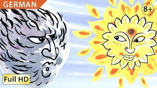 The Wind and the Sun: Learn German with subtitles - Story for Children