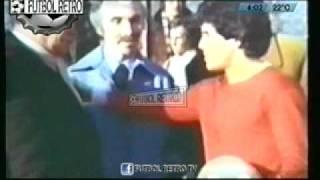 Maradona con Luis Sandrini y Jorge Porcel  en Argentinos Jrs 1980 FUTBOL RETRO TV