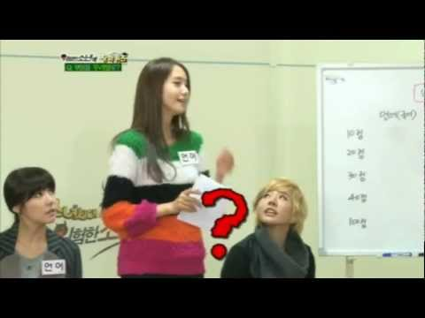 120122 SNSD Funny cut Yoona giving out hints