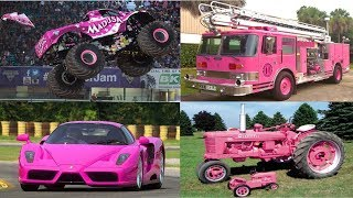 Pink Transport and Vehicles for Children Learn Vehicles Cars and Truck Names in English for Kids