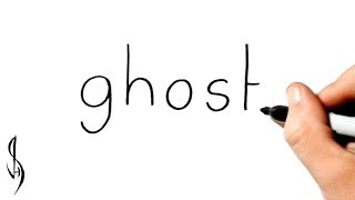 How to Turn Words Ghost into a Cartoon #34