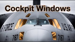 COCKPIT WINDOWS - How to open SLIDING WINDOW and HOW TO DEAL WITH WINDOW CRACKS!